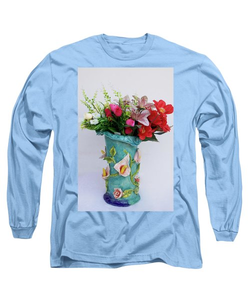 Vase, Rose Calla Long Sleeve T-Shirt
