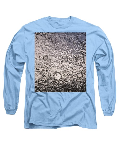 Water Abstraction - Liquid Metal Long Sleeve T-Shirt