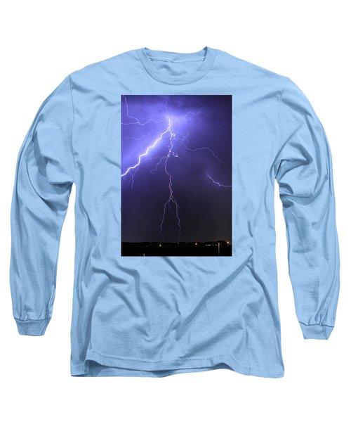West Jordan Lightning 4 Long Sleeve T-Shirt by Paul Marto