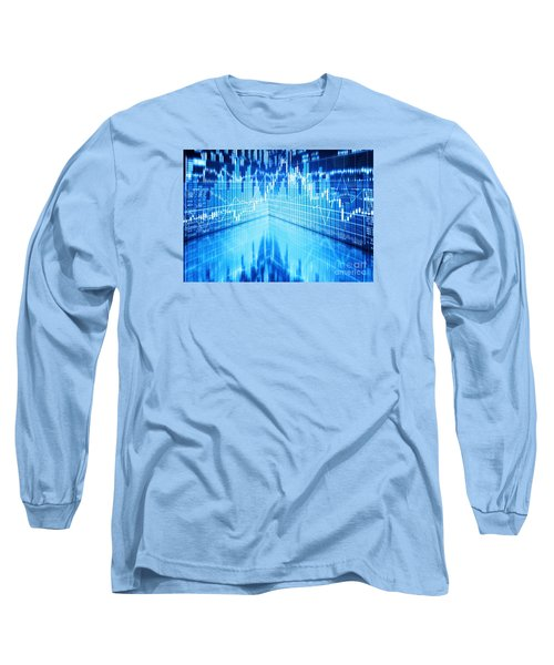 Long Sleeve T-Shirt featuring the photograph Stock Market Concept by Setsiri Silapasuwanchai