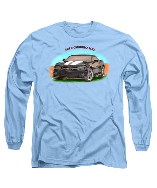 Long Sleeve T-Shirt featuring the painting 2010 Camaro Ss  Rs by Jack Pumphrey