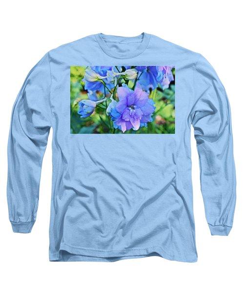2015 Mid September At The Garden Larkspur 2 Long Sleeve T-Shirt