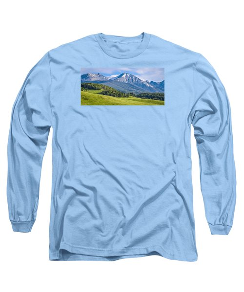 #215 - Spanish Peaks, Southwest Montana Long Sleeve T-Shirt