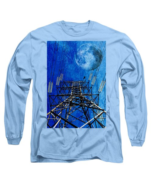 Electric Power Transmission... Long Sleeve T-Shirt by Werner Lehmann