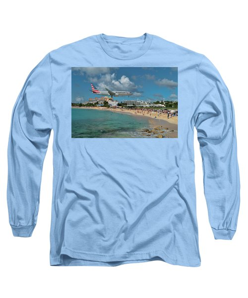 American Airlines At St. Maarten Long Sleeve T-Shirt