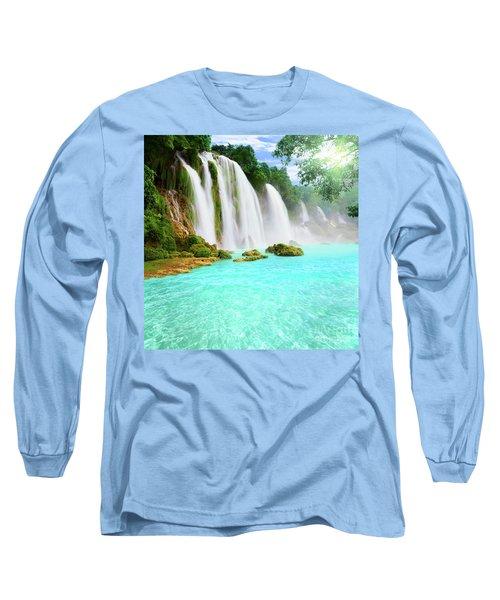 Detian Waterfall Long Sleeve T-Shirt