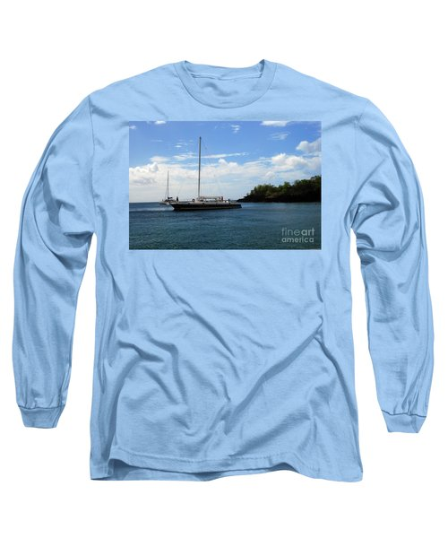 Long Sleeve T-Shirt featuring the photograph Sail Boat by Gary Wonning