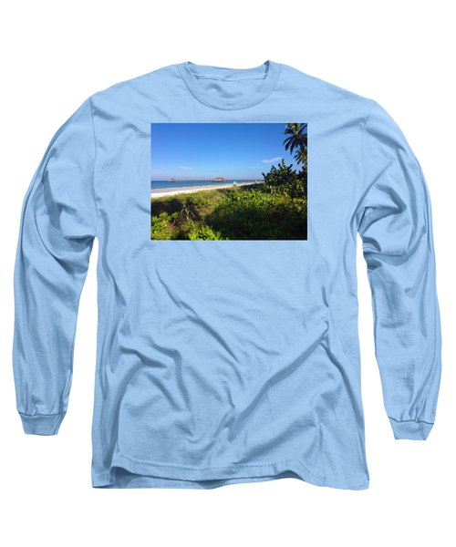 Long Sleeve T-Shirt featuring the photograph The Historic Naples Pier by Robb Stan