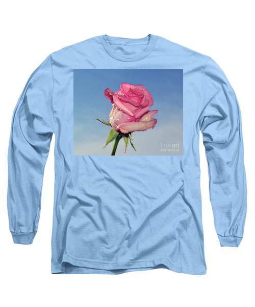 Nice Rose Long Sleeve T-Shirt by Elvira Ladocki