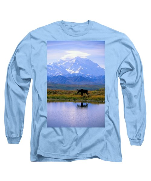 Denali National Park Long Sleeve T-Shirt by John Hyde - Printscapes