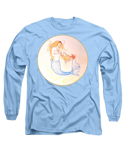 Mermaid Long Sleeve T-Shirt by M Gilroy