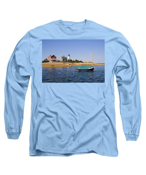 Sandy Neck Lighthouse Long Sleeve T-Shirt by Charles Harden