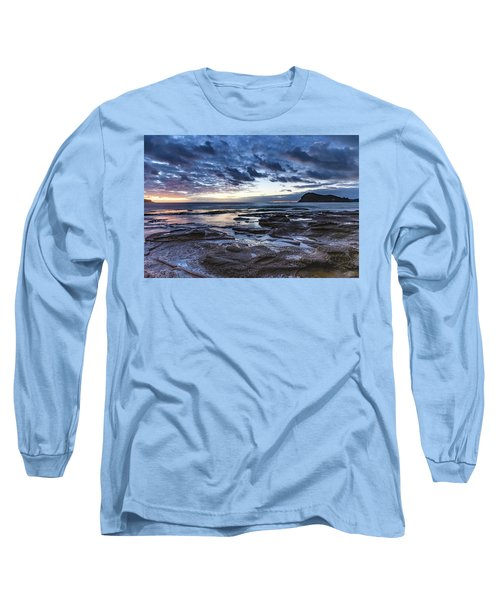 Seascape Cloudy Nightscape Long Sleeve T-Shirt