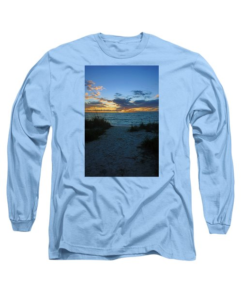 Sunset At Delnor Wiggins Pass State Park Long Sleeve T-Shirt
