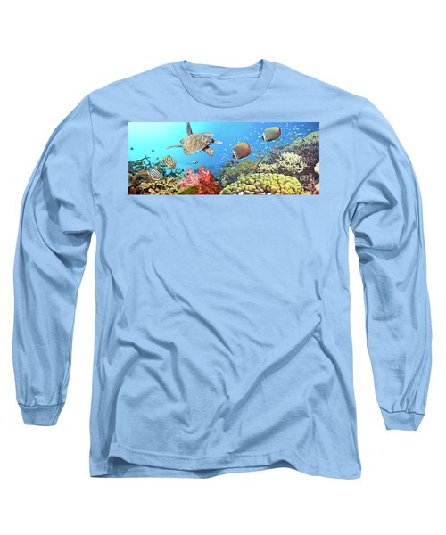 Underwater Panorama Long Sleeve T-Shirt
