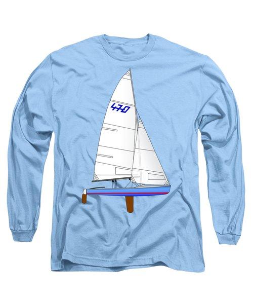 470 Olympic Sailboat Long Sleeve T-Shirt