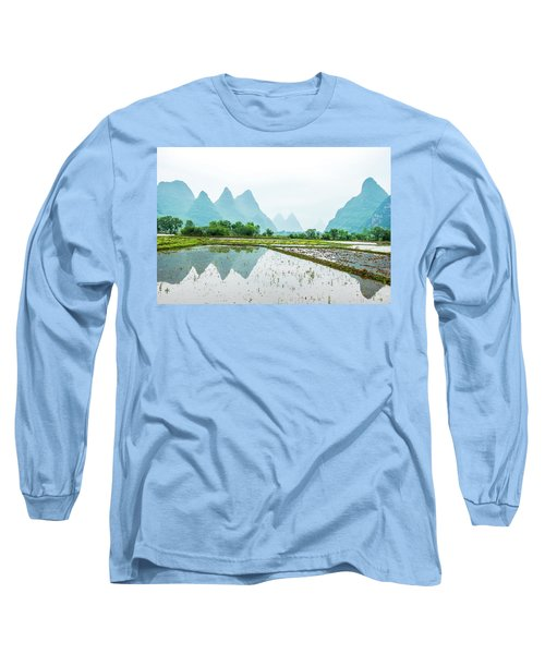 Karst Rural Scenery In Spring Long Sleeve T-Shirt