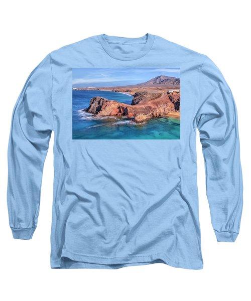 Playa Papagayo - Lanzarote Long Sleeve T-Shirt by Joana Kruse
