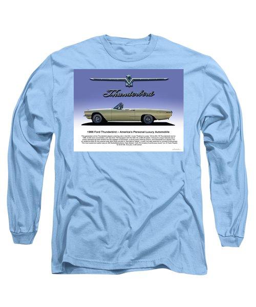 66 T-bird Display Piece Long Sleeve T-Shirt by Douglas Pittman