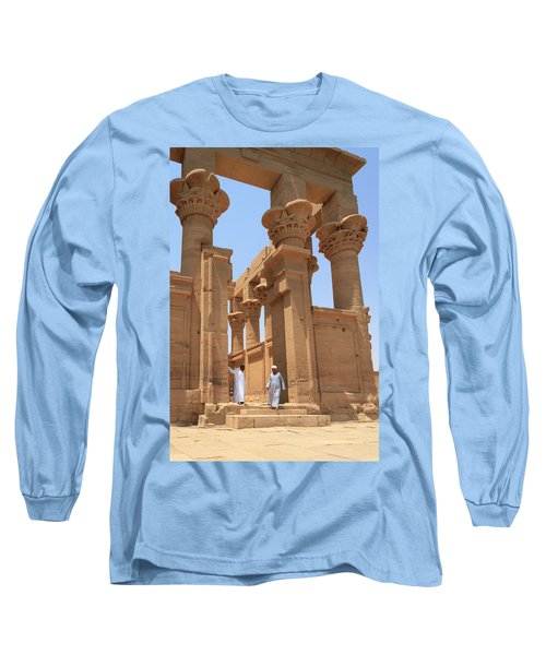 Temple Of Isis Long Sleeve T-Shirt by Silvia Bruno