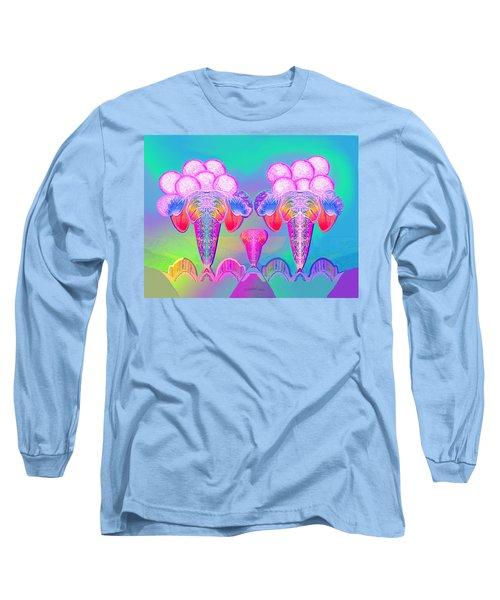 917 - Icecream Summerfruit A  Long Sleeve T-Shirt