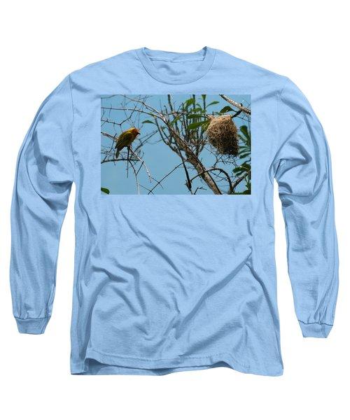 Long Sleeve T-Shirt featuring the photograph A Bird In 3d by Paul SEQUENCE Ferguson             sequence dot net