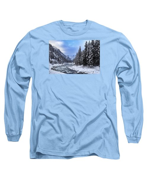 A Cold Winter Day  Long Sleeve T-Shirt by Lynn Hopwood