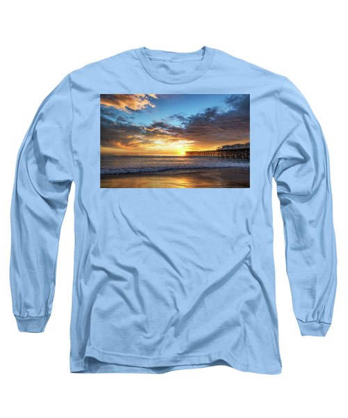 A Crystal Sunset Long Sleeve T-Shirt by Joseph S Giacalone