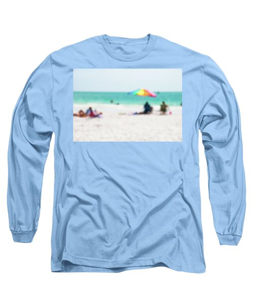 Long Sleeve T-Shirt featuring the photograph a day at the beach IV by Hannes Cmarits