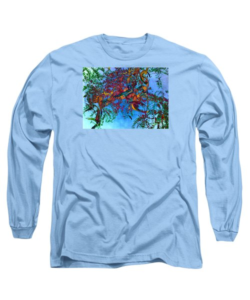 A Fabric Of Illusion Long Sleeve T-Shirt by Roselynne Broussard
