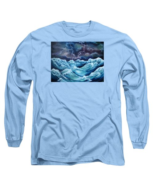 Long Sleeve T-Shirt featuring the painting A Fierce Beauty by Cheryl Pettigrew