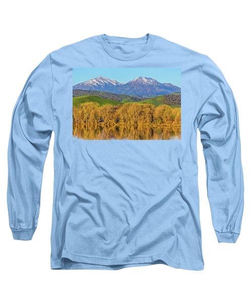 A Little Snow On Mt. Diablo Long Sleeve T-Shirt