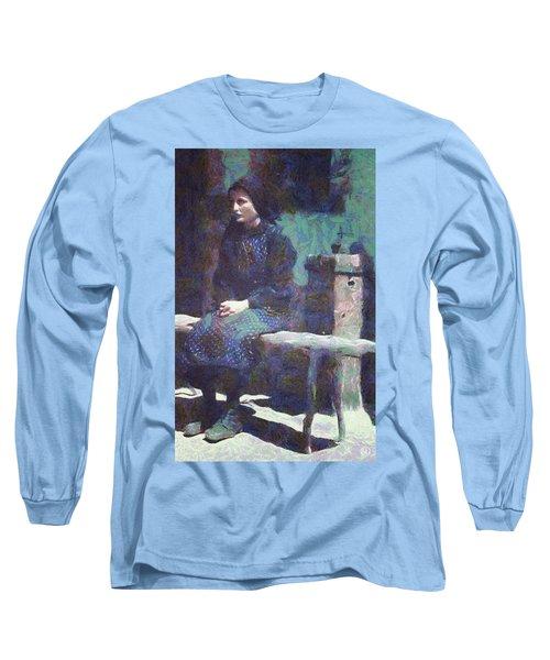 A Moment Of Meditation Long Sleeve T-Shirt by Gun Legler