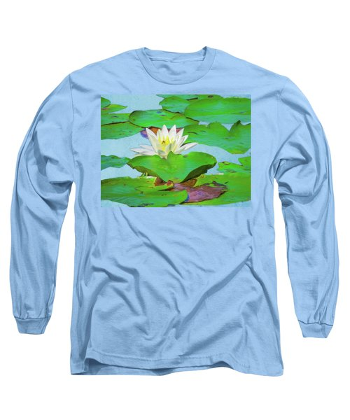 A Single Water Lily Blossom Long Sleeve T-Shirt