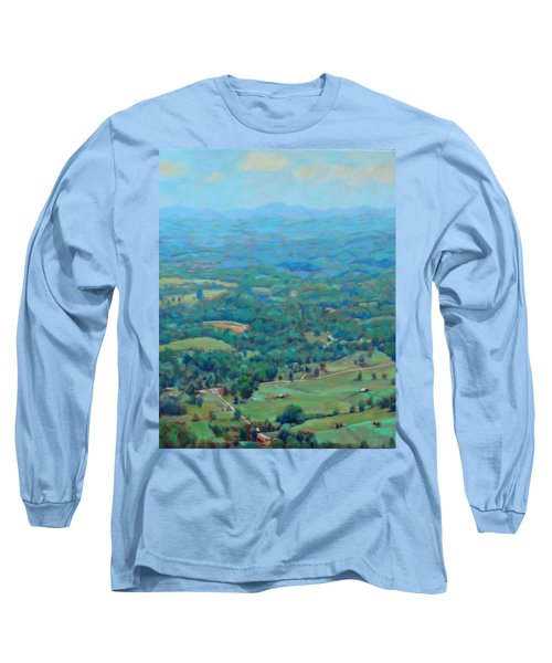 A Slow Summer's Day- View From Roanoke Mountain Long Sleeve T-Shirt by Bonnie Mason