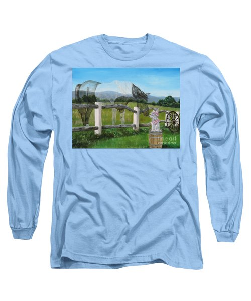 A Special Visitor From The Past Long Sleeve T-Shirt