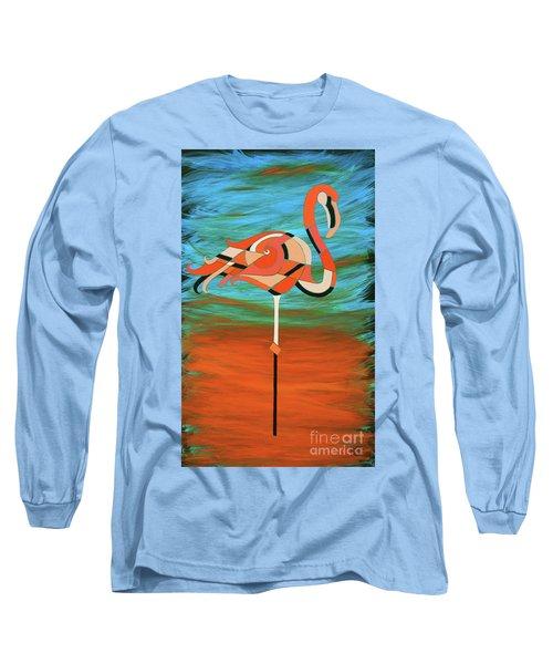 A Straight Up Flamingo Long Sleeve T-Shirt