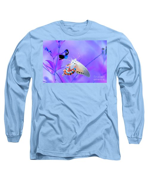 A Strange Butterfly Dream Long Sleeve T-Shirt by Kim Pate