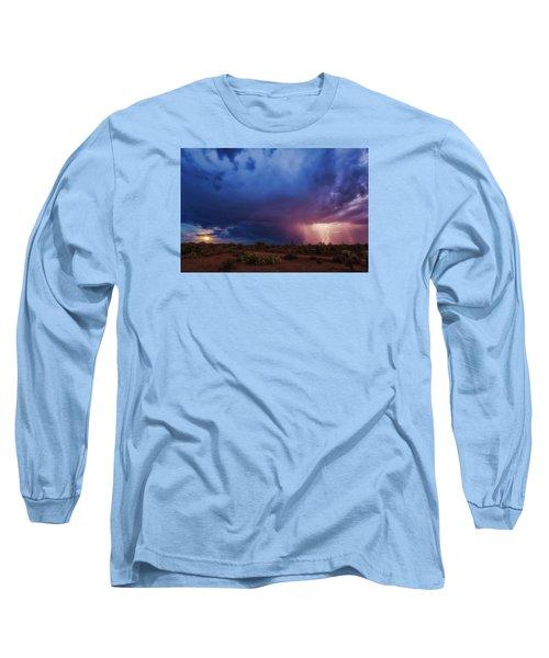 A Tale Of Two Nights Long Sleeve T-Shirt by Rick Furmanek