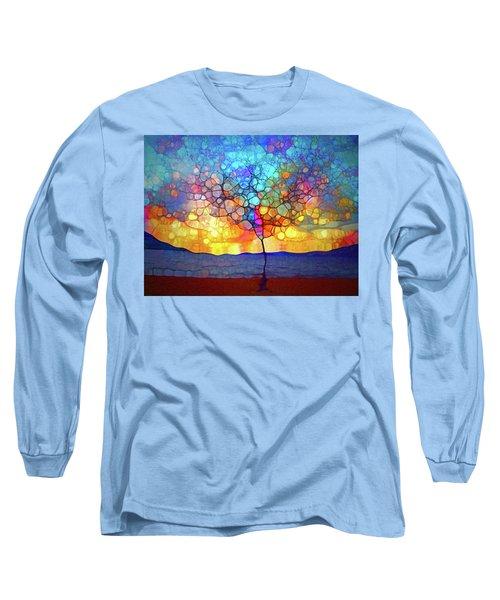 Long Sleeve T-Shirt featuring the digital art A Tree For A New Season by Tara Turner