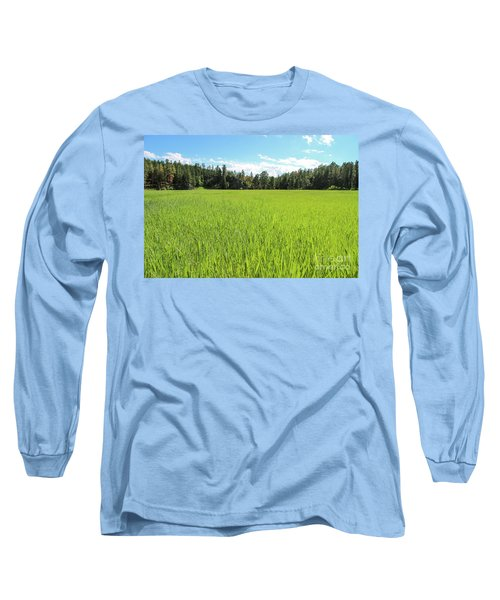 Long Sleeve T-Shirt featuring the photograph A Very Green Meadow by Bill Gabbert