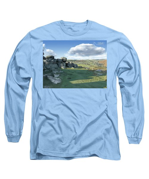 A View From Combestone Tor Long Sleeve T-Shirt