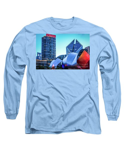 A View From Millenium Park At Dusk Long Sleeve T-Shirt