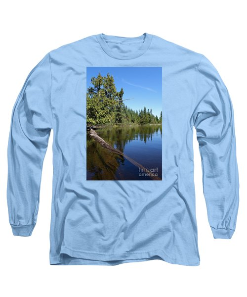 Long Sleeve T-Shirt featuring the photograph A View From My Kayak by Sandra Updyke