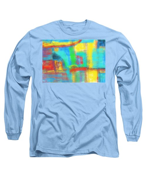 Long Sleeve T-Shirt featuring the painting A Yellow Day by Susan Stone