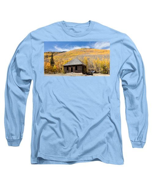 Long Sleeve T-Shirt featuring the photograph Abandoned Cabin Near The Old Mining Town Of Ironton by Carol M Highsmith