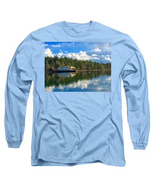 Abandoned Ferry Long Sleeve T-Shirt by Sean Griffin