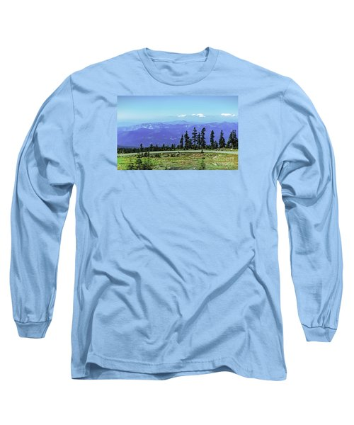 Long Sleeve T-Shirt featuring the photograph Above The Smoke by Nancy Marie Ricketts