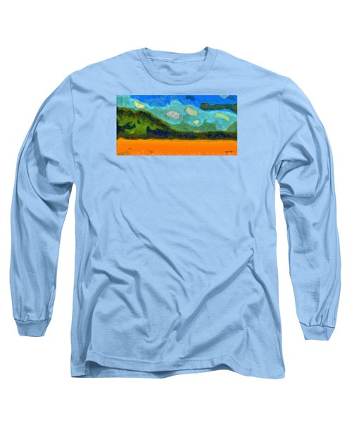 Long Sleeve T-Shirt featuring the digital art Above The Woods by Spyder Webb