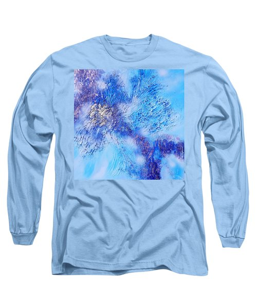 Abstract Art - The Colors Of Winter Long Sleeve T-Shirt